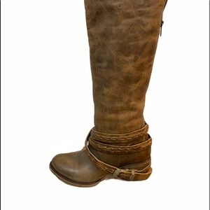 "NIB Freebird ""Canon"" Acorn Leather Riding Boots"